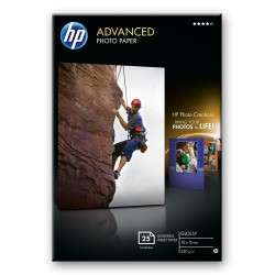 HP Papier photo Advanced brillant sans bordure - 25 feuilles/10 x 15 cm - 1