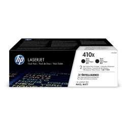 HP 410X LaserJet, lot de 2 cartouches de toner grande capacité authentiques, noir - 1