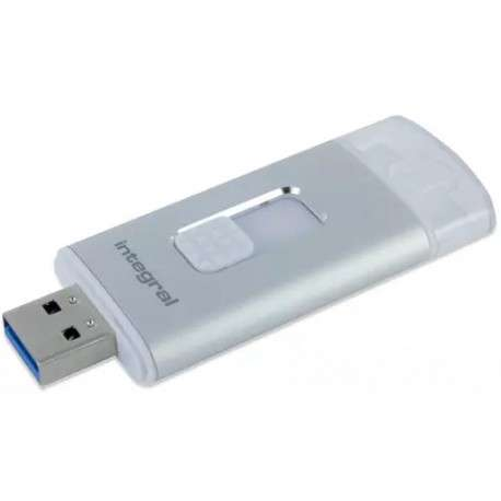 Integral INFD32GBMORESTOR 32Go USB 3.0 3.1 Gen 1 Capacity Argent lecteur USB flash - 1