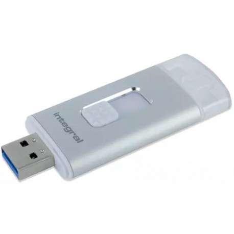 Integral INFD64GBMORESTOR 64Go USB 3.0 3.1 Gen 1 Capacity Argent lecteur USB flash - 1