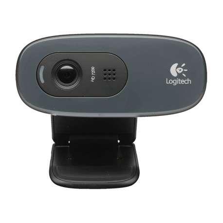 Logitech C270 3MP 1280 x 720pixels USB 2.0 Noir, Gris webcam - 1