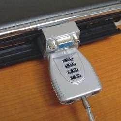 Newstar NSVGALOCK 2m Argent câble antivol - 1